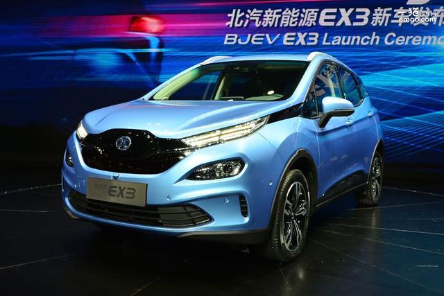 工况续航超500公里北汽纯电动EX3上海车展上市
