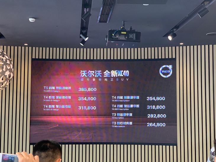 沃尔沃XC40亚太版北区正式上市 售26.48万起/三种动力可选
